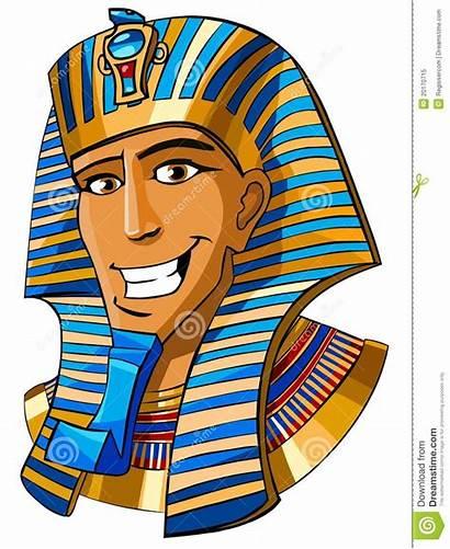 Egyptian Pharaoh Clipart Cartoon King Tut Face