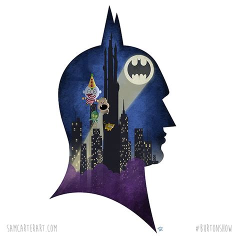 imaginative silhouette portraits  iconic tim burton