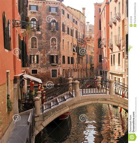 bridge   venetian canal royalty  stock
