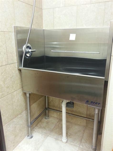 groomers tub stainless steel elevated grooming tub direct animal