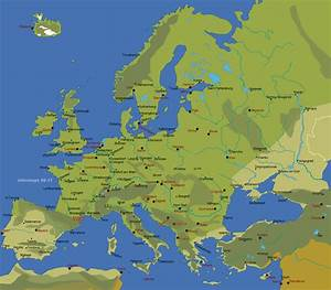 Map Of Europe With Cities And Towns | World Map Interactive