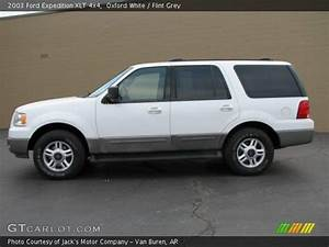 Oxford White - 2003 Ford Expedition Xlt 4x4 - Flint Grey Interior