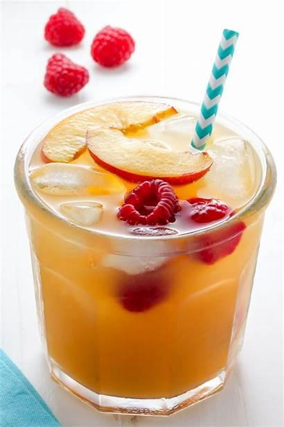 Tea Iced Raspberry Peach Lemonade Sweet Cold