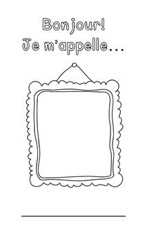 kindergarten french  week activity bonjour je