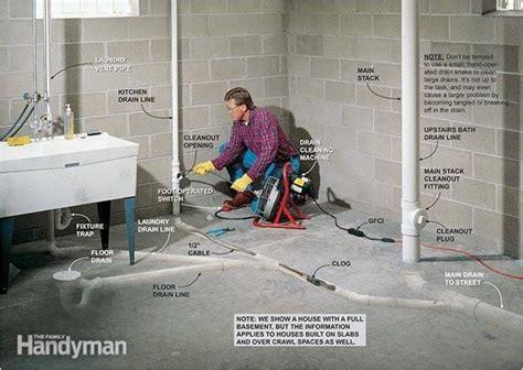 basement floor drain backs   kitchen drain