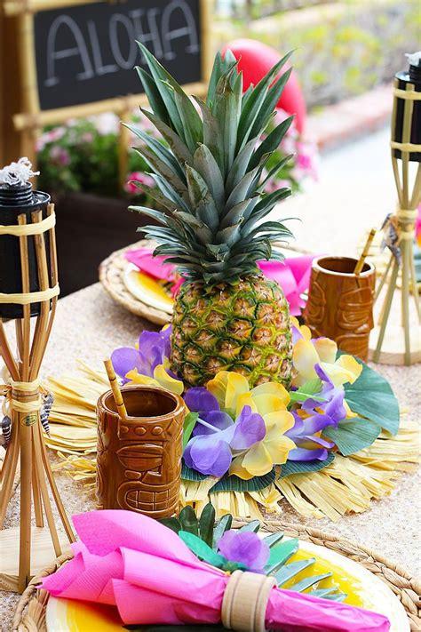 hawaiian centerpieces ideas  pinterest