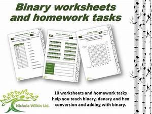 Binary Worksheet And Homework Pack  Gcse Computer Science