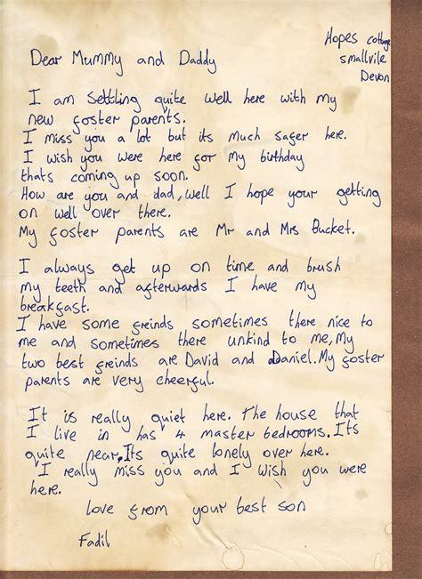 evacuee letter notes   orphan evacuees ww
