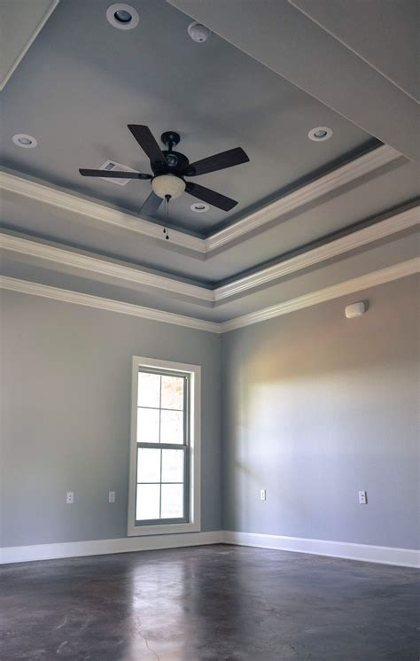 Tray Ceiling Trim Ideas by Tray Ceiling 118 Teal In 2019 Tray Ceiling