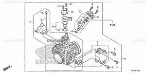 Honda Motorcycle 2018 Oem Parts Diagram For Throttle Body