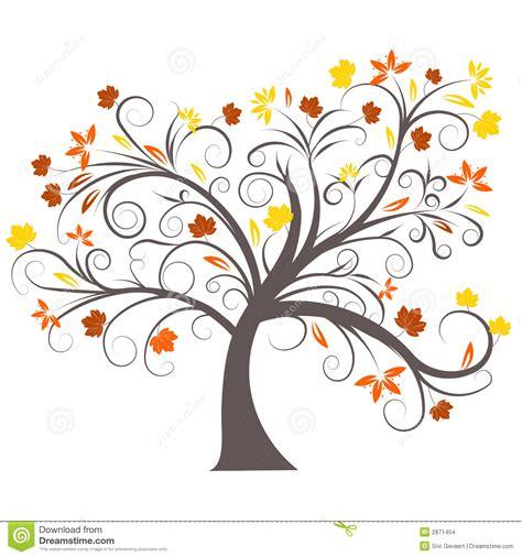 clipart autunno disegno dell albero di autunno di vettore illustrazione