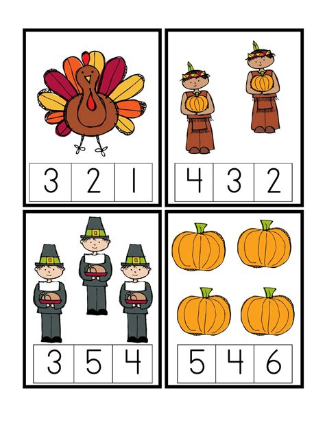 preschool printables may 2012 276 | Thanks Num Cards 1 4