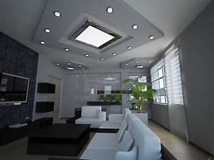 Spot Plafond Salon : eclairage pour le salon id es sympas 27 photos ~ Edinachiropracticcenter.com Idées de Décoration