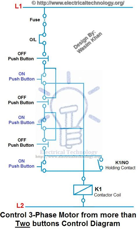 Control Phase Motor From More Than Two Buttons