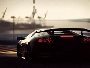 Black Lamborghini Aventador HD Wallpaper 2016