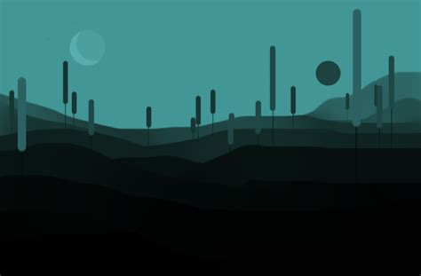 Minimalistic Landscape By Cancat On Deviantart