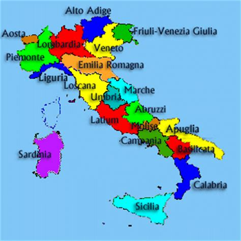provinces  italy