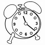Clock Coloring Alarm Printable Cartoonized Pages Wecoloringpage sketch template
