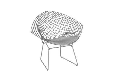 chaise bertoia knoll bertoia chair with cushion knoll milia shop