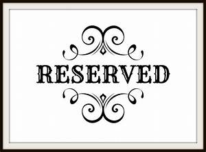 image gallery reserved With reserved seating signs template