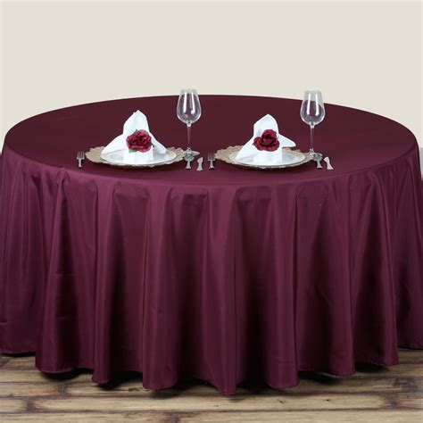 "6 Pcs 70"" Round Polyester Tablecloths Wedding Table Party"