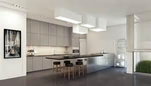 islands for kitchens small kitchens decoración de interiores modernos en gris y blanco