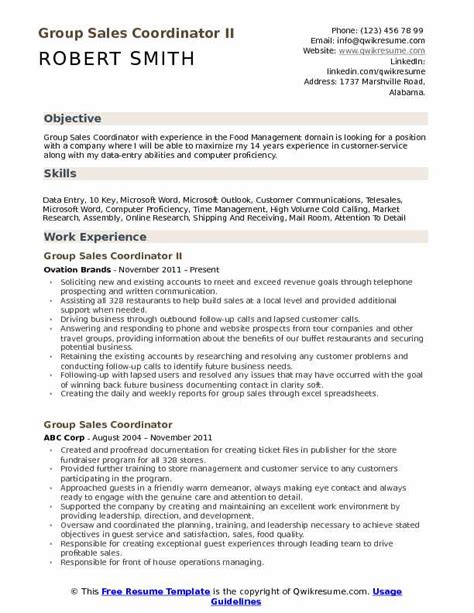 Sales Coordinator Resume by Sales Coordinator Resume Sles Qwikresume