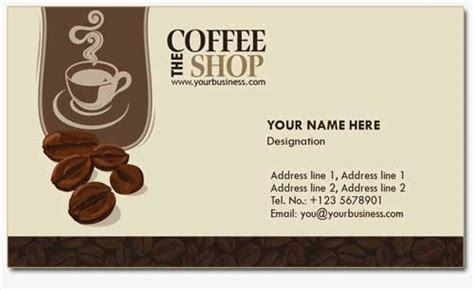 4 Business Card Templates For Coffee Shops Business Card Qualifications Format Best Reader App For Ios Spot Uv Price Quick Mps Real Estate Photo Tips Sametime Not Showing With Personal Full Contact Review