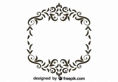 Gratis Frame Texto Marco Ornamental Retro Floral