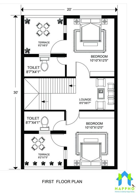 floor plan     feet plot  bhk  square feet