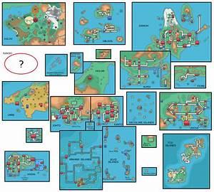 Informações: Mapas das Regiões Pokémon Mythology