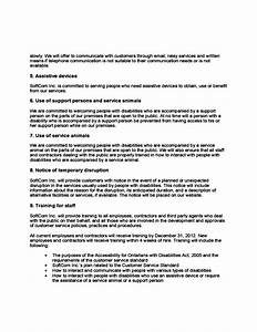 great customer service policy template contemporary With aoda policy template