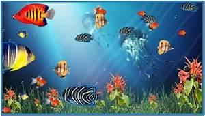 moving animated aquarium screensaver