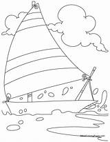 Coloring Yacht Pages Charter Bestcoloringpages Boat Hovercraft Popular Boats Christmas Easy Coloringhome sketch template