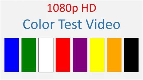 the color test tv laptop phone screen color test hd 1080p
