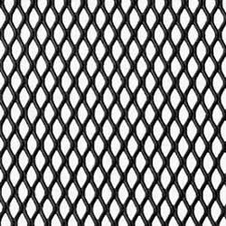 Grille Metal Decorative : expanded steel grille mesh black powder coated 1220mm x 914mm x 1mm ~ Teatrodelosmanantiales.com Idées de Décoration