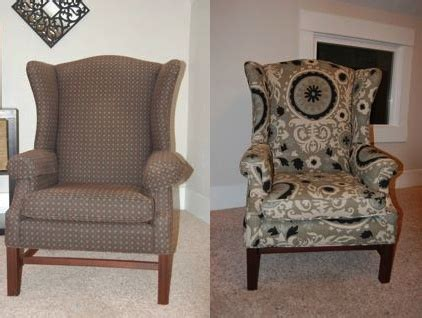 Diy Armchair Upholstery by How To Reupholster A Wingback Chair Diy Project Aholic