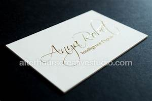 Triple thick 800gsm gold foil business card for Triple thick business cards