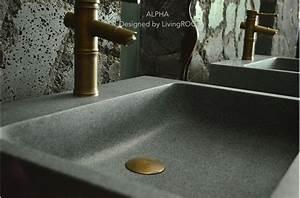 genuine trendy gray granite vessel sink faucet hole alpha With vasque salle de bain en pierre naturelle