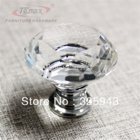 glass cabinet door knobs 400pcs 30mm clear zinc glass crystal knobs and handles
