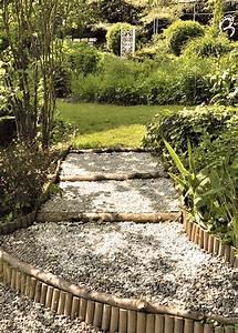 Rondin De Bois Pour Jardin : all e de jardin quelle bordure choisir marie claire ~ Edinachiropracticcenter.com Idées de Décoration
