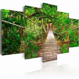 Bilder Natur Leinwand : leinwand bilder xxl kunstdruck wandbild natur br cke dschungel wald 030212 107 ebay ~ Markanthonyermac.com Haus und Dekorationen
