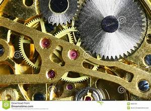 Inside The Clock Stock Image  Image Of Watch  Close  Hand