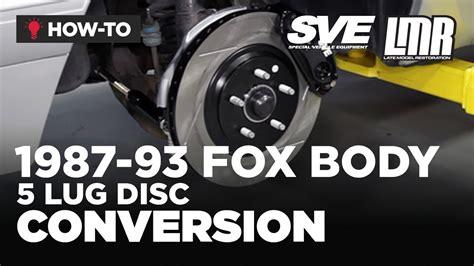 fox body mustang  lug disc conversion sve
