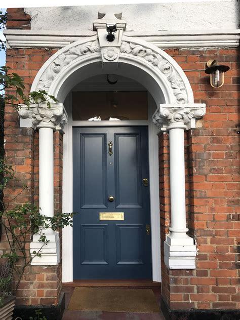 beautiful victorian front door painted in quot stiffkey blue