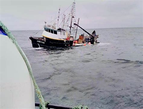 Fishing Vessel Merchandise Sinks by Valley News Quechee Family Rescued At Sea After Boat