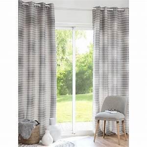 Vorhang Grau Weiß Gestreift : vorhang grau wei mit sen 130 x 250 cm vesco maisons du monde ~ Whattoseeinmadrid.com Haus und Dekorationen