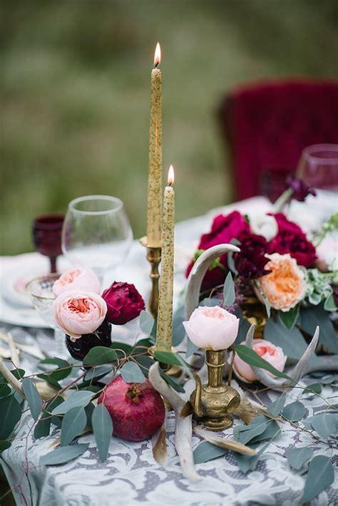 burgundy  blush fall wedding ideas deer pearl