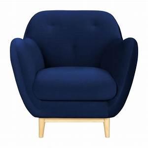 Fauteuil En Velours : melchior fauteuil en velours bleu habitat habitat ~ Dode.kayakingforconservation.com Idées de Décoration