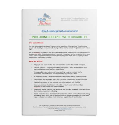 disability inclusion policy template play   rules